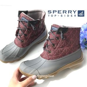 SPERRY TOP SIDER Saltwater Quilted Duck Boots 6.5